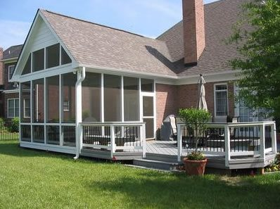 Screened Porch Low Deck Walkway And Path Archadeck Of Fort Wayne Ft