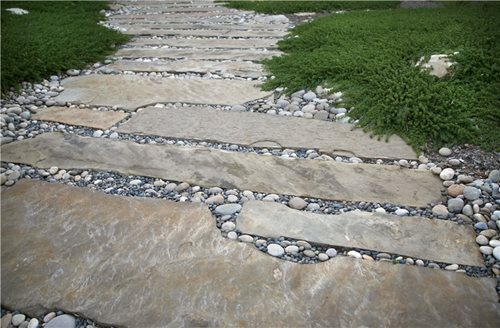grace design associates in santa barbara ca curved walkway - Flagstone Walkway Design Ideas