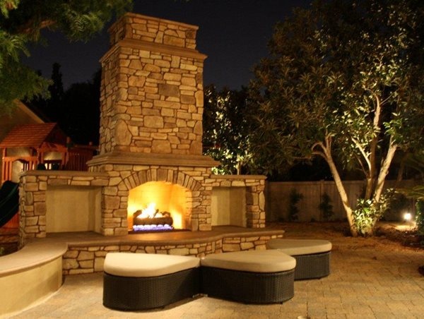 Backyard outdoor kitchen landscaping network calimesa ca