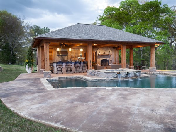 Concrete Knockdown Pool Deck Outdoor Solutions Brandon, MS