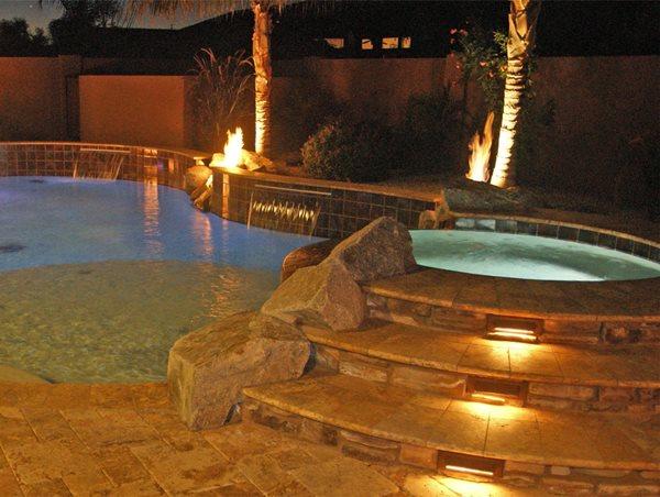 Pool Lights Pool Houses Alexon Design Group Gilbert, AZ