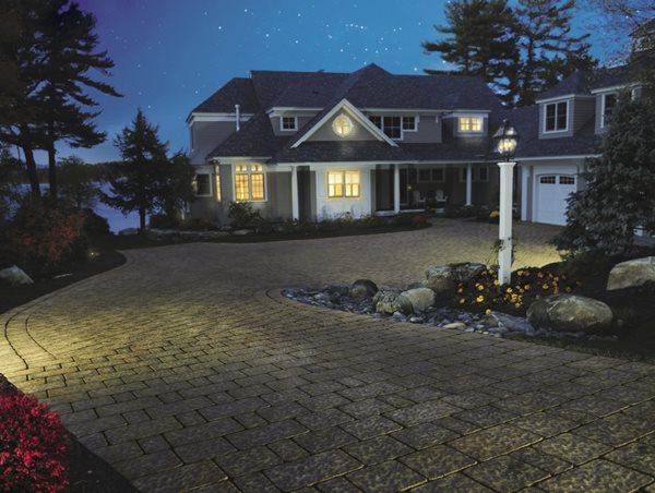 Driveway Lighting Front Yard Landscaping Belknap Landscape Co., Inc. Gilford, NH