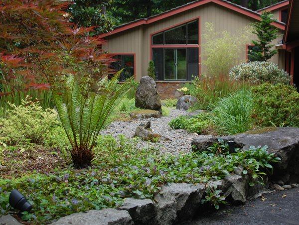 Landscape Boulders Ross NW Watergardens Portland, OR