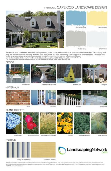 Garden style design sheets landscaping network for Xd garden design