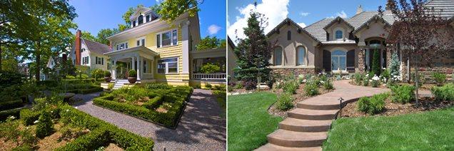 formal vs. informal front yard