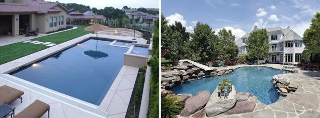 rectangle vs. freeform pool
