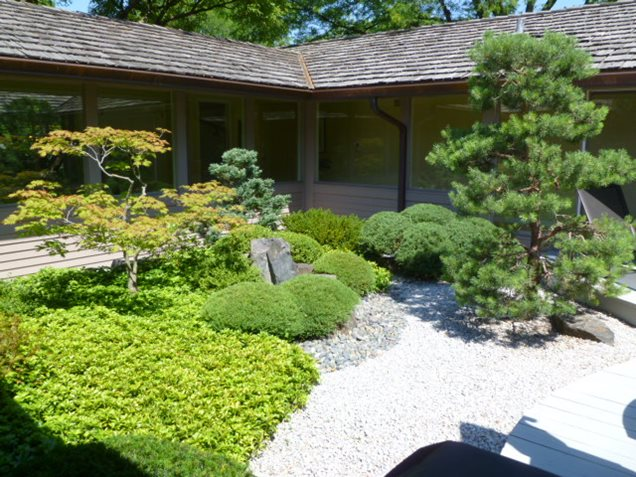 Japanese Zen Garden Backyard : Asian Landscaping  Lake Forest, IL  Photo Gallery  Landscaping