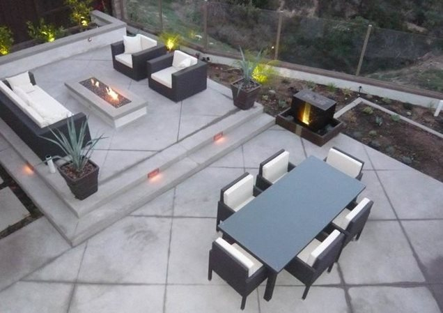 All Cement Backyard Ideas : Back Patio, Outdoor Living, ConcreteBackyard LandscapingQuality Living