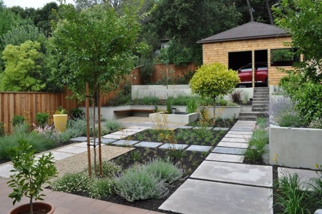 Backyard landscaping walnut creek ca photo gallery for Courtyard landscaping pictures