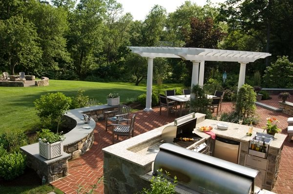 Backyard landscaping wilton ct photo gallery for Large backyard design ideas