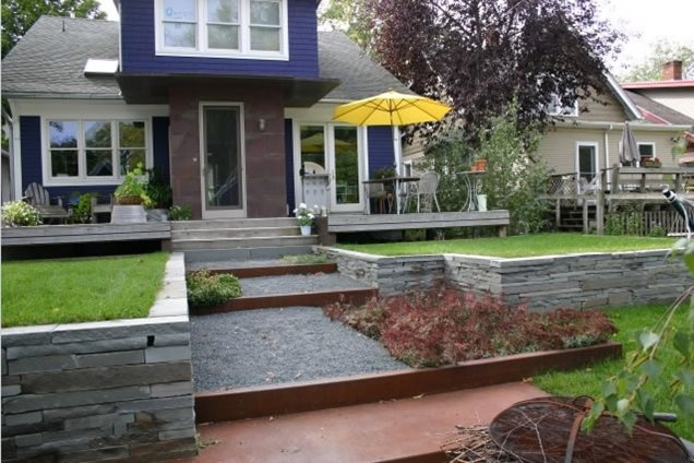Backyard Landscaping - Minneapolis, MN - Photo Gallery ... on Terraced Front Yard Ideas id=73062