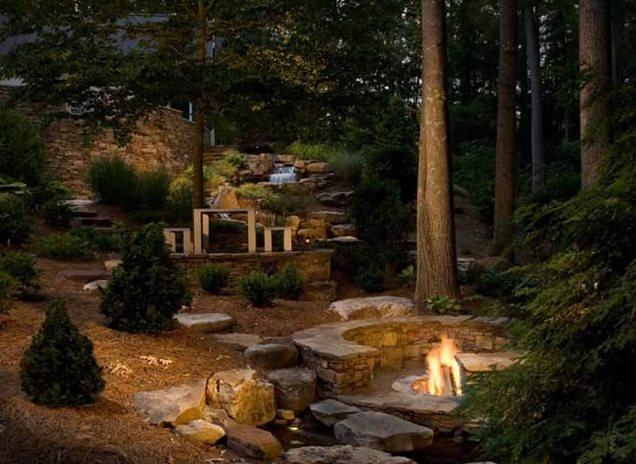Landscaping Backyard With Woods : Backyard landscaping charlotte nc photo gallery