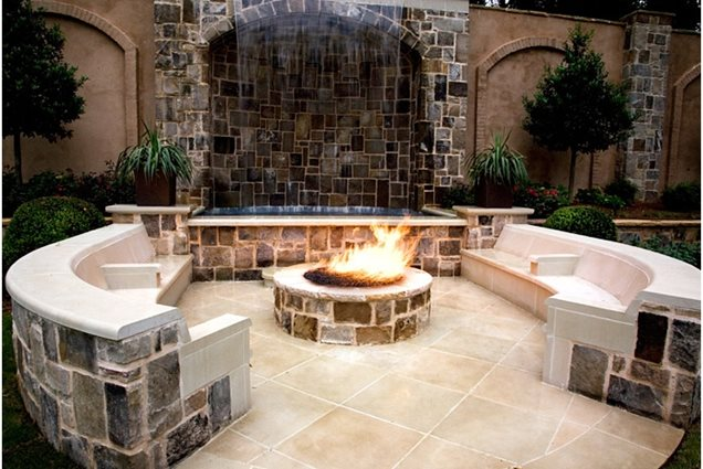 Built in seating roswell ga photo gallery for Built in fire pits designs