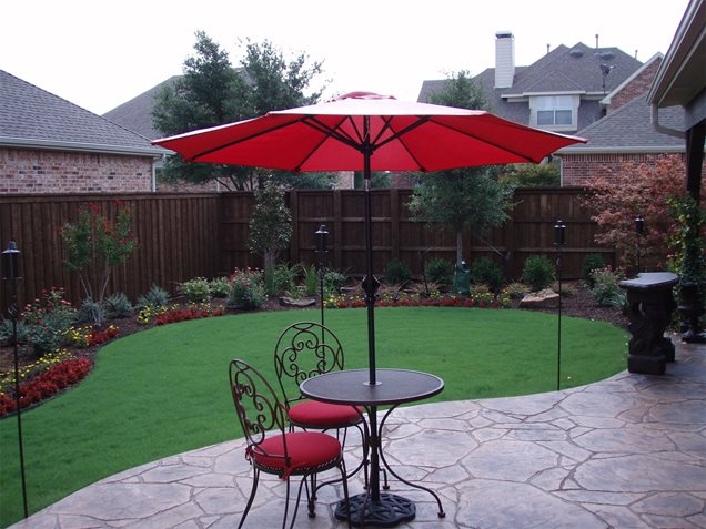 decorative concrete patio backyard creations
