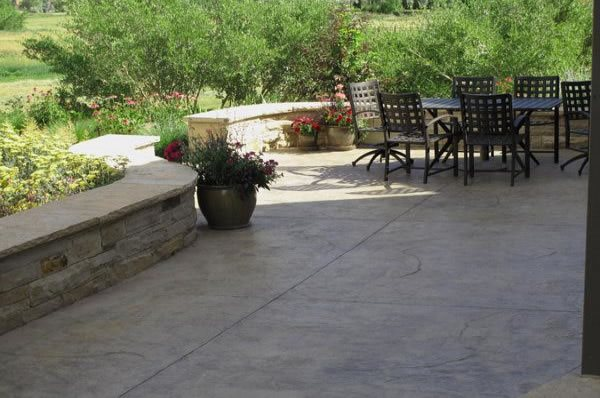 Cement Backyard Garden : Stamped Concrete, Concrete PatioConcrete PatioJ&S LandscapeLongmont