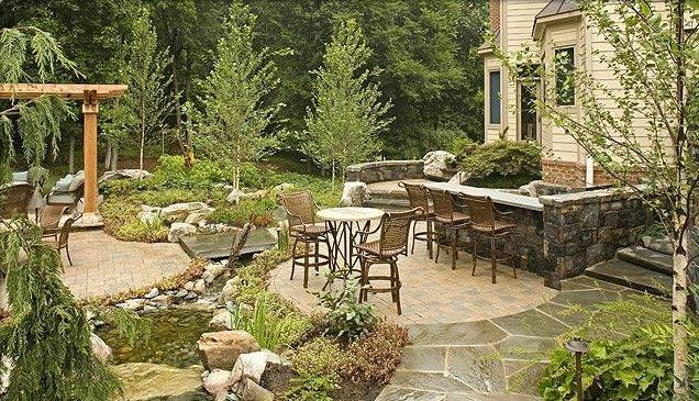 Country Backyard Patio Ideas : Woodland BackyardCountry Landscape DesignSurrounds Landscape