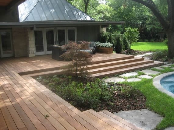 Deck design dallas tx photo gallery landscaping network for Garden landscaping decking