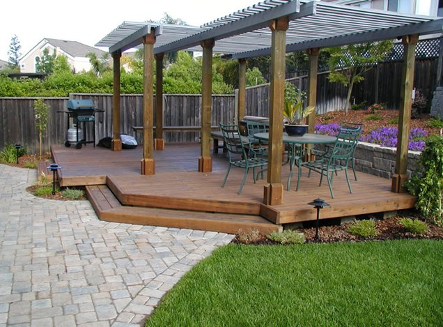 Landscaping Pictures For Decks : Detached deckdeck designcyprex construction landscapessan jose ca