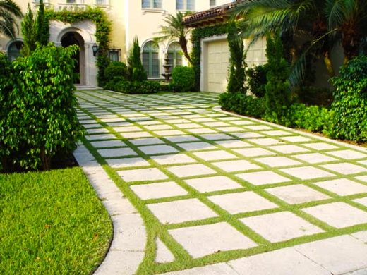 Driveway boca raton fl photo gallery landscaping for Grid landscape design
