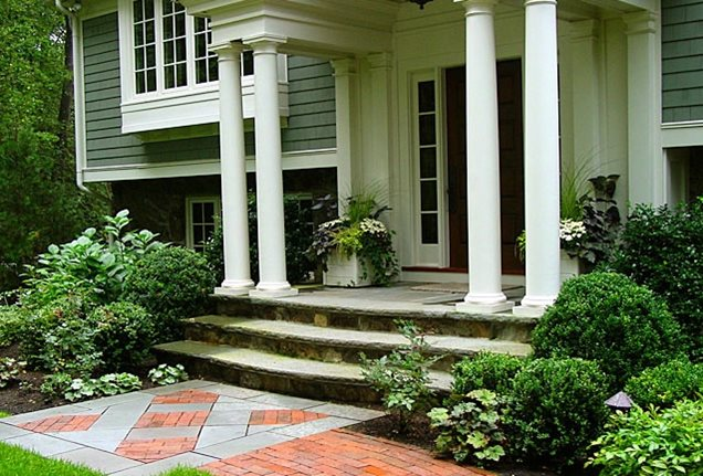 Entryways, Steps and Courtyard - Wayland, MA - Photo Gallery