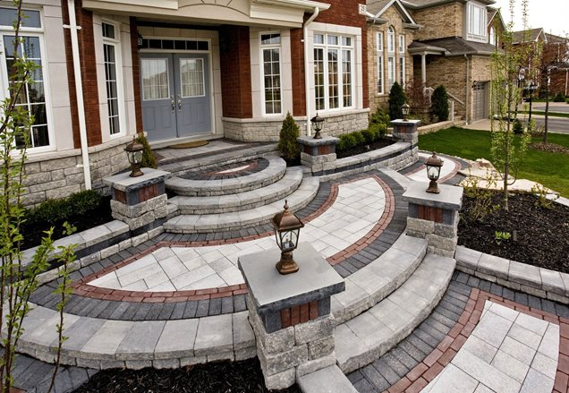 Entryways steps and courtyard whitby on photo for Outside foyer designs