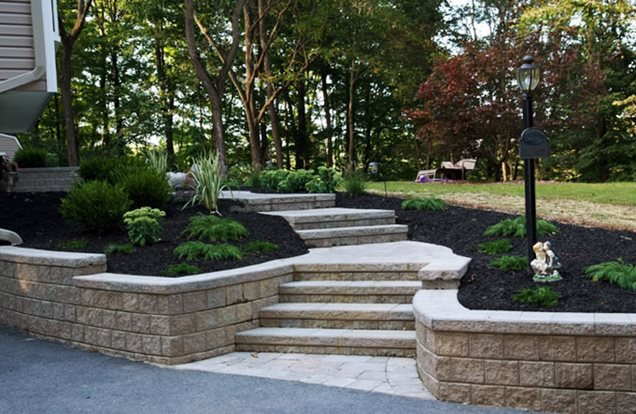 Landscaping Wall Steps : Pictures of landscaping steps ideas