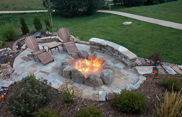 natural boulder fire pit gas ring landscaping network 9229 - Barbecue and Fire Pit Safety for the Summer