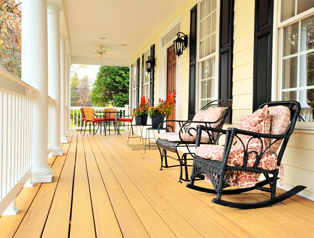 Front porch calimesa ca photo gallery landscaping for Rocking chair front porch design ideas