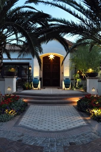 Front Door Lighting, Front Door Landscaping Front Yard Landscaping Exteriors by Chad Robert, Inc. Phoenix, AZ