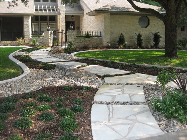 Front yard design with stone swimming pool design blog for Landscaping rocks jacksonville