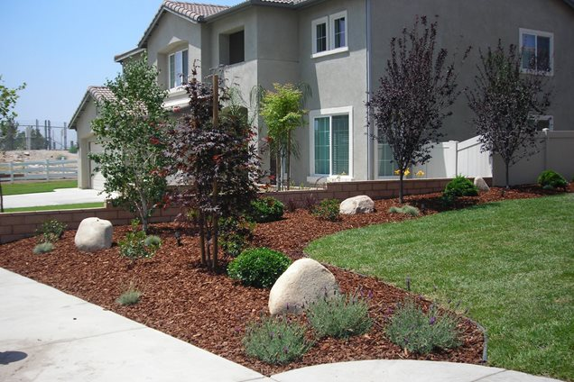 Front yard landscaping crestline ca photo gallery for No maintenance front yard
