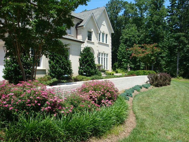 Colonial Landscape Design Of Front Yard Landscaping Manassas Park Va Photo Gallery