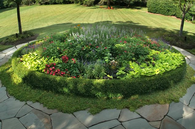 round flower beds design