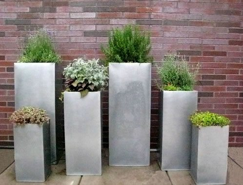 Container Herb Garden Design Photograph | Herb Container Gar