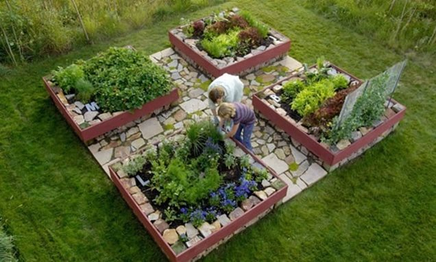 Beautiful vegetable garden layouts for Veggie garden design