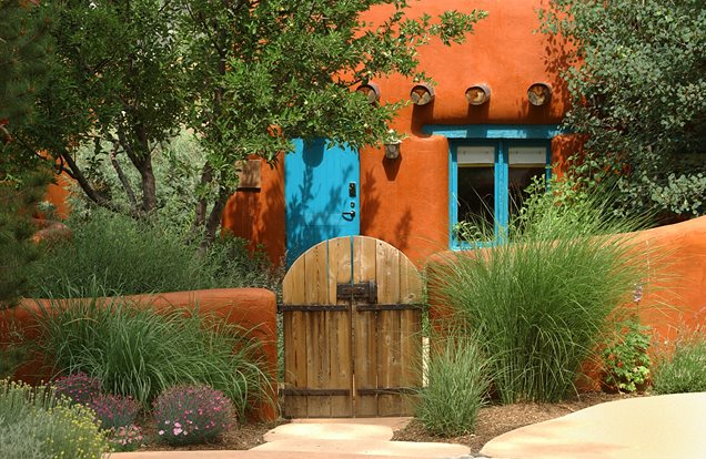 southwestern gate orange garden wallgates and fencinglandscaping