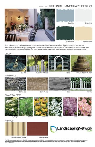 Landscape design sheet photo gallery landscaping network for Colonial landscape design