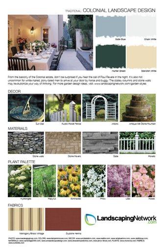 Landscape design sheet photo gallery landscaping network for Colonial landscape design