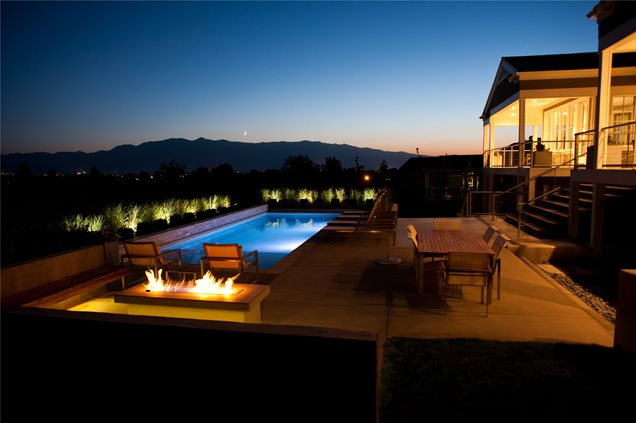 Modern Pool Lighting Lighting Ag-Trac Enterprises Logan, UT