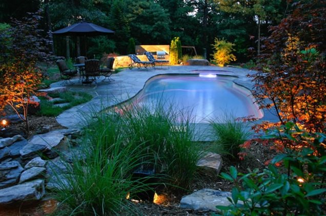 Lighting greenville sc photo gallery landscaping for Pool design greenville sc