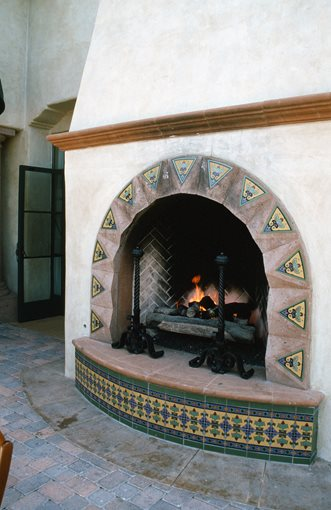 Mediterranean fireplace morongo valley ca photo for Mediterranean fireplace designs