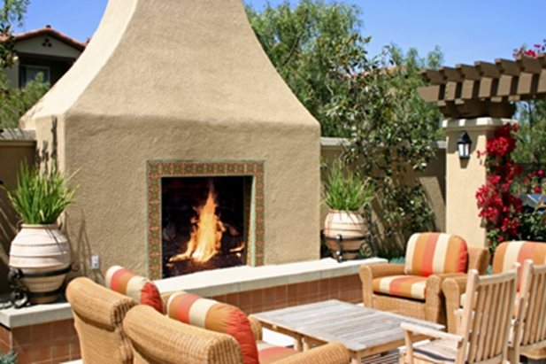 Mediterranean landscaping calabasas ca photo gallery for Mediterranean fireplace designs