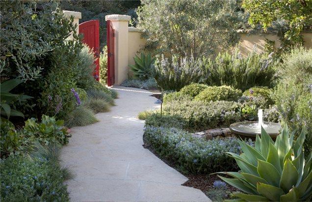 Mediterranean landscaping santa barbara ca photo for Mediterranean garden design