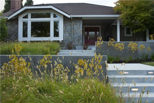 Modern landscaping sausalito ca photo gallery Modern front yard landscaping
