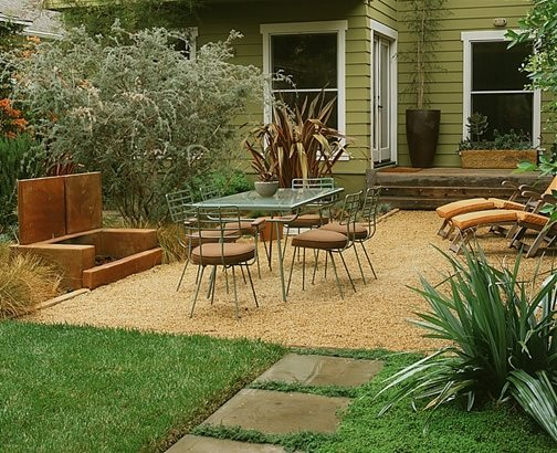 Outdoor Fireplace Pebbles : Modern landscaping los angeles ca photo gallery