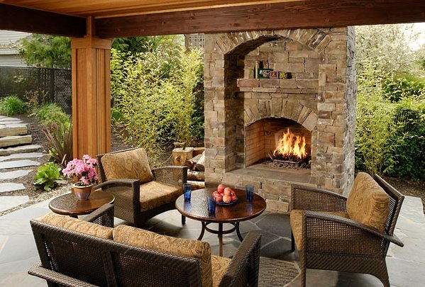 Backyard FireplaceOutdoor FireplaceBig Sky Landscaping IncPortland