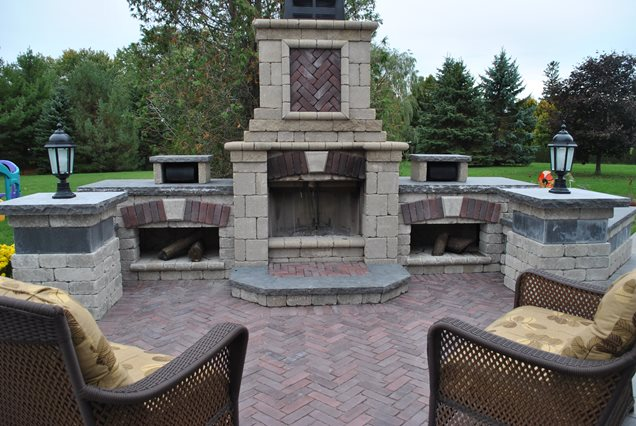 Backyard Fireplace Kits : Backyard Fireplace KitOutdoor FireplaceOGS Landscape ServicesWhitby