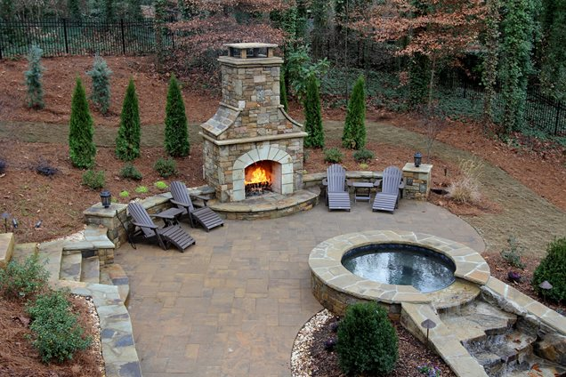 outdoor fireplace woodstock ga photo gallery