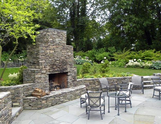 Outdoor Fireplace Sag Harbor Ny Photo Gallery Landscaping Network