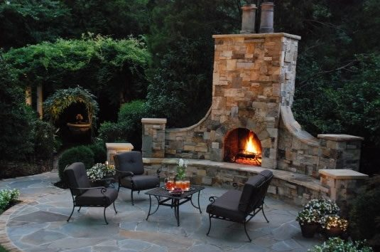 Backyard Fireplace Pictures : Oversized Outdoor FireplaceOutdoor FireplaceCoogans Landscape